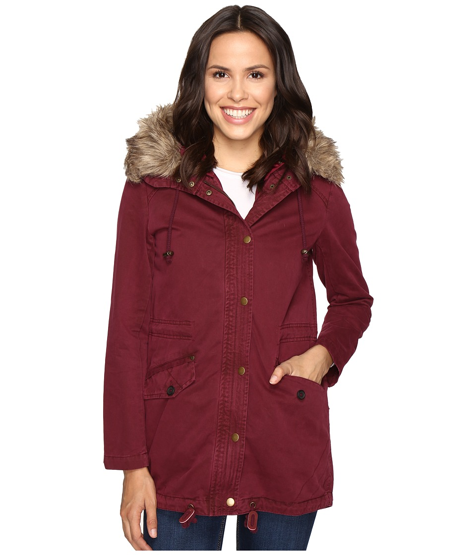 Mavi Jeans - Fur Detailed Jacket (Wine) Women's Coat