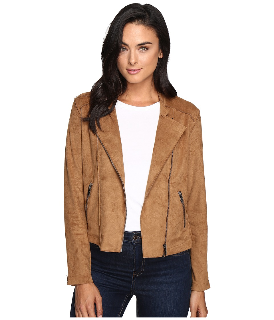 Mavi Jeans - Zipped Suede Jacket (Camel) Women's Coat