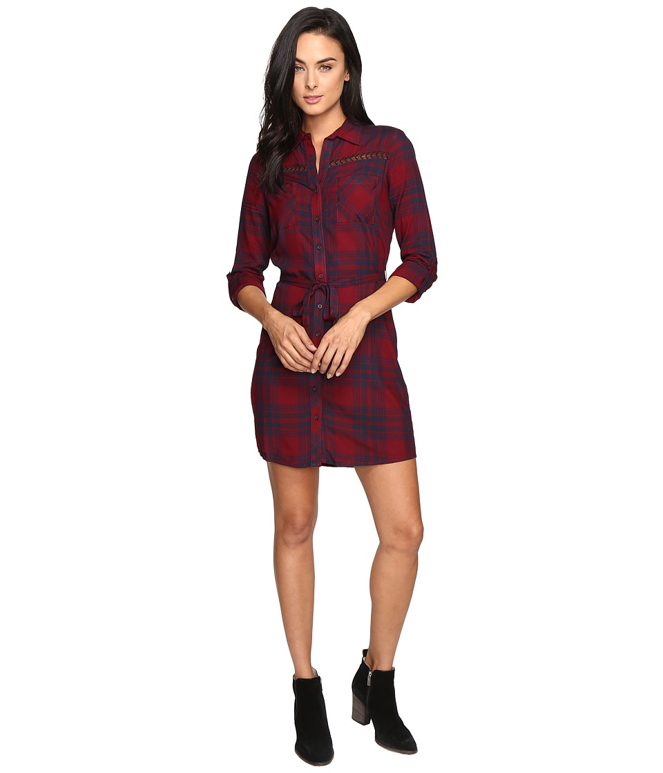 Mavi Jeans - Red Checked Dress (Port Royale Check) Women's Dress