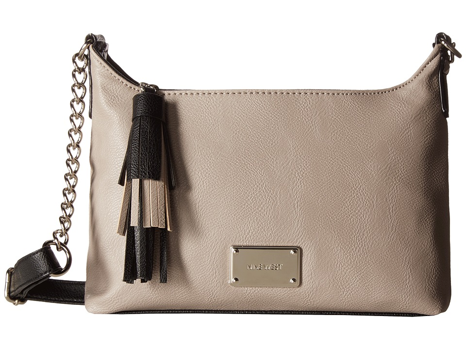Nine West - Tasseled Medium Crossbody (Elm/Black) Handbags