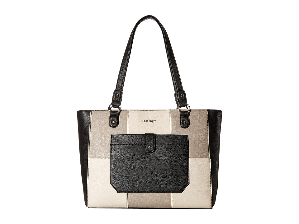 Nine West - Those Pockets (Black/Natural/Elm) Handbags
