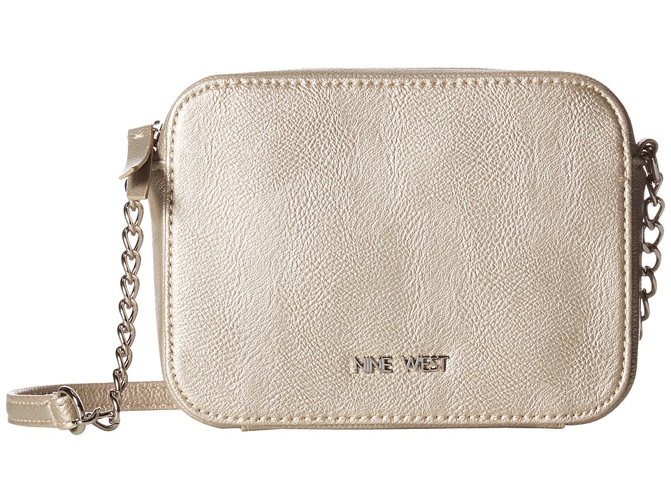 Nine West - Lucky Treasure Small Crossbody (Shimmer Silver) Handbags