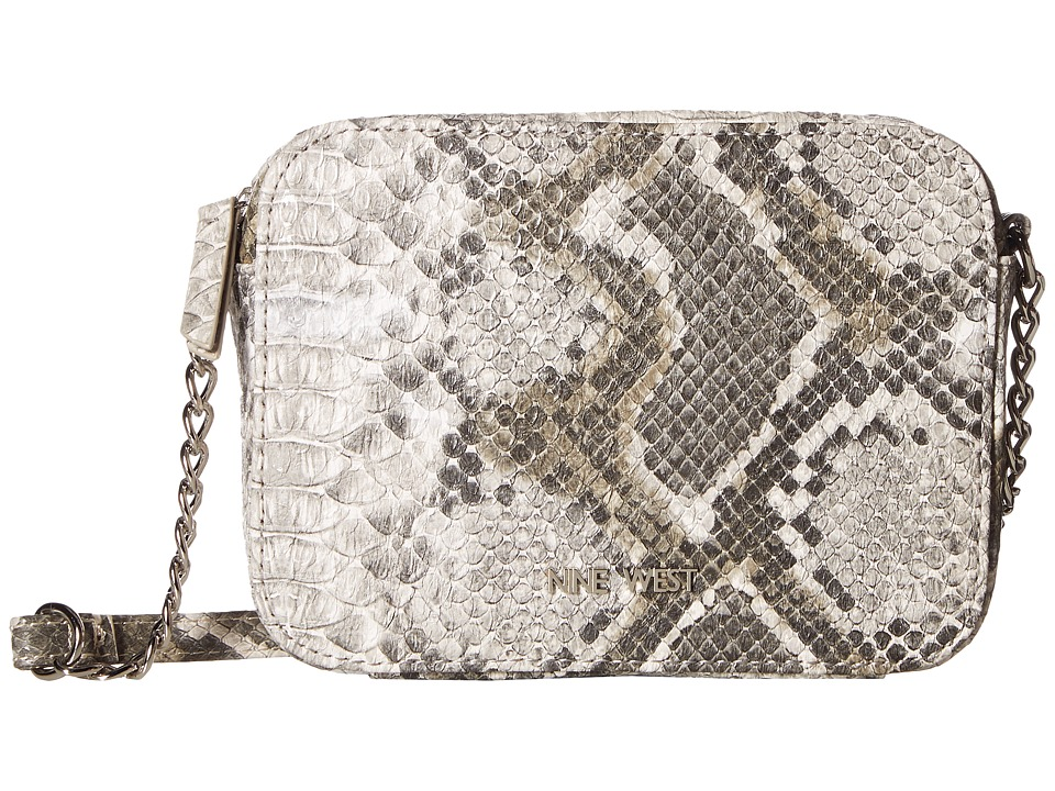 Nine West - Lucky Treasure Small Crossbody (Natural Snake) Handbags