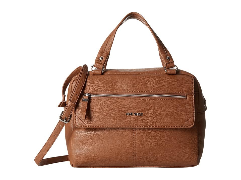 Nine West - Aby Large Satchel (Tobacco) Handbags