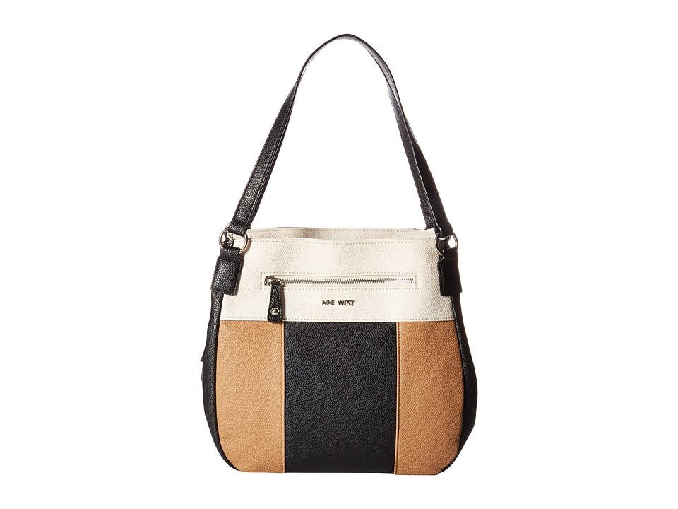 Nine West - Summer Smores (Black/Milk/Dark Camel/Black) Handbags