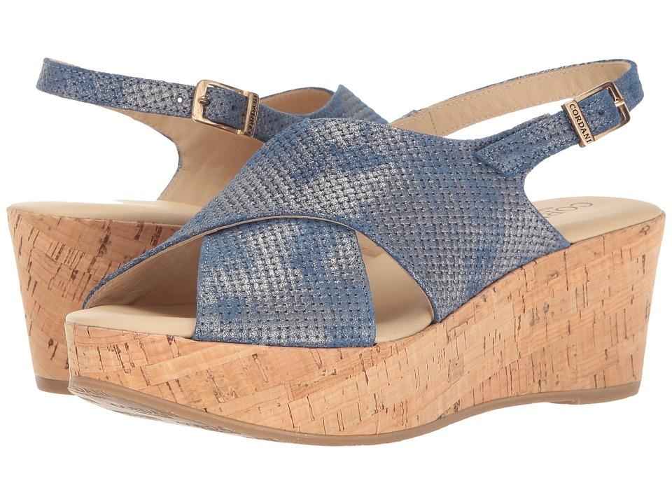 Cordani - Delight (Blue Texture) Women's Wedge Shoes