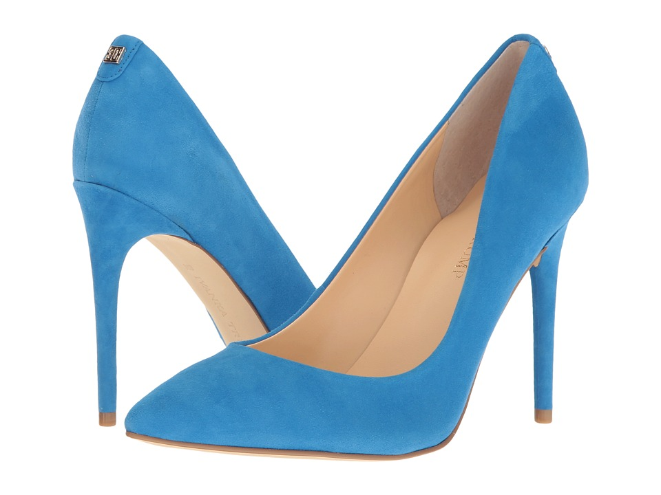 Ivanka Trump Kayden 4 Blue Suede High Heels