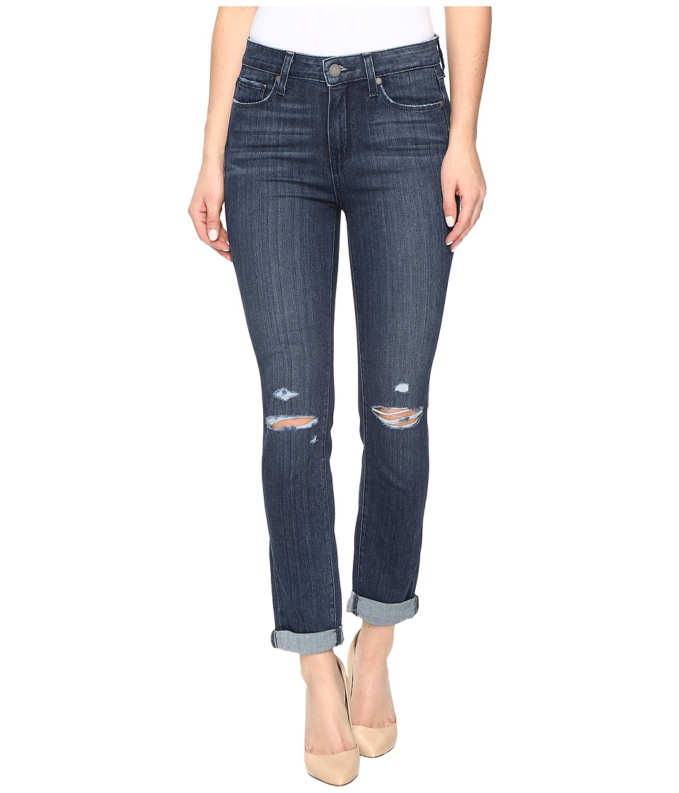 Paige - Hoxton Crop Rollup in Lani Destructed (Lani Destructed) Women's Jeans