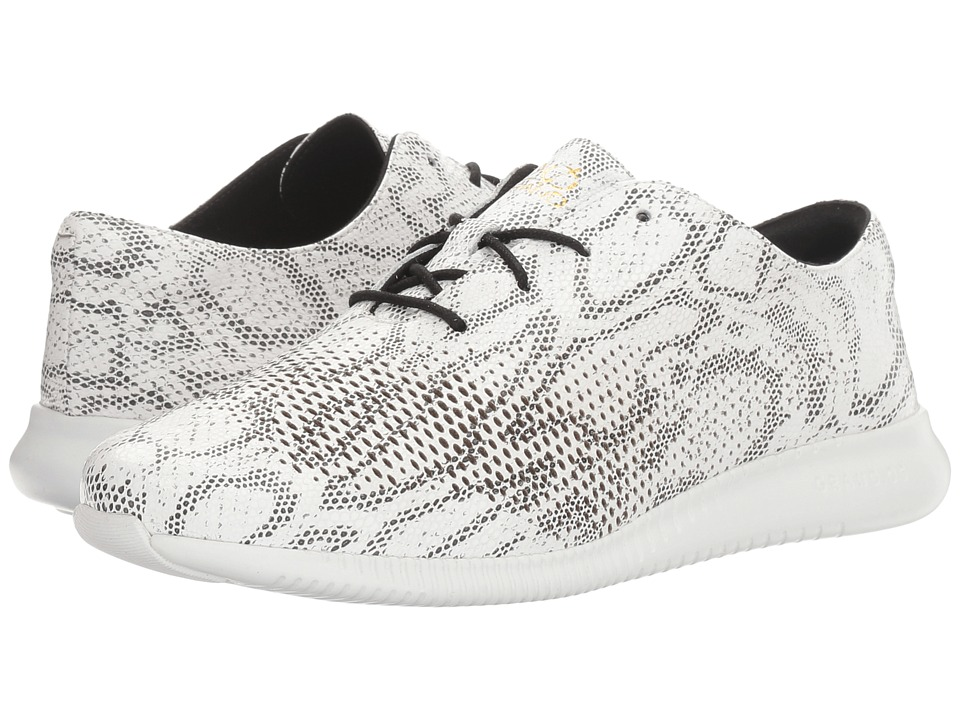 Cole Haan 2.0 Zerogrand Laser Wing (Black/White Snake Print/Optic White) Women