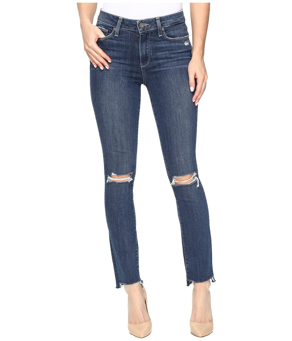 Paige - Hoxton Ankle Peg w/ Uneven Hem in Dedee Destructed (Dedee Destructed) Women's Jeans