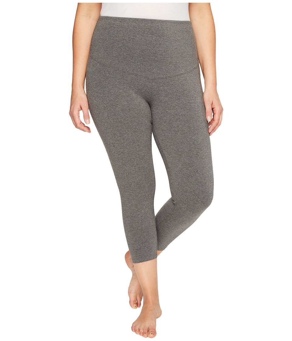 Yummie - Plus Size Gloria Skimmer Leggings (Heathered Charcoal) Women's Casual Pants