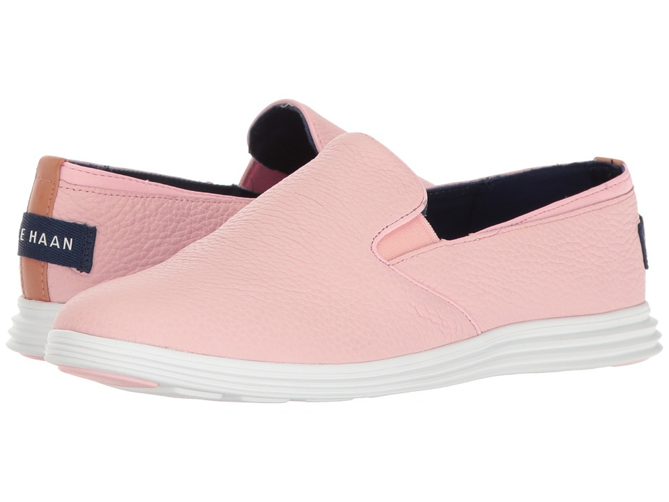 Cole Haan - Ella Grand 2 Gore Slip-On (Seashell Pink/Optic White) Women's Slip on Shoes
