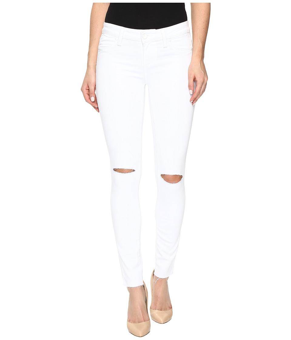 Paige - Verdugo Ankle w/ Raw Hem in White Cloud Destructed (White Cloud Destructed) Women's Jeans