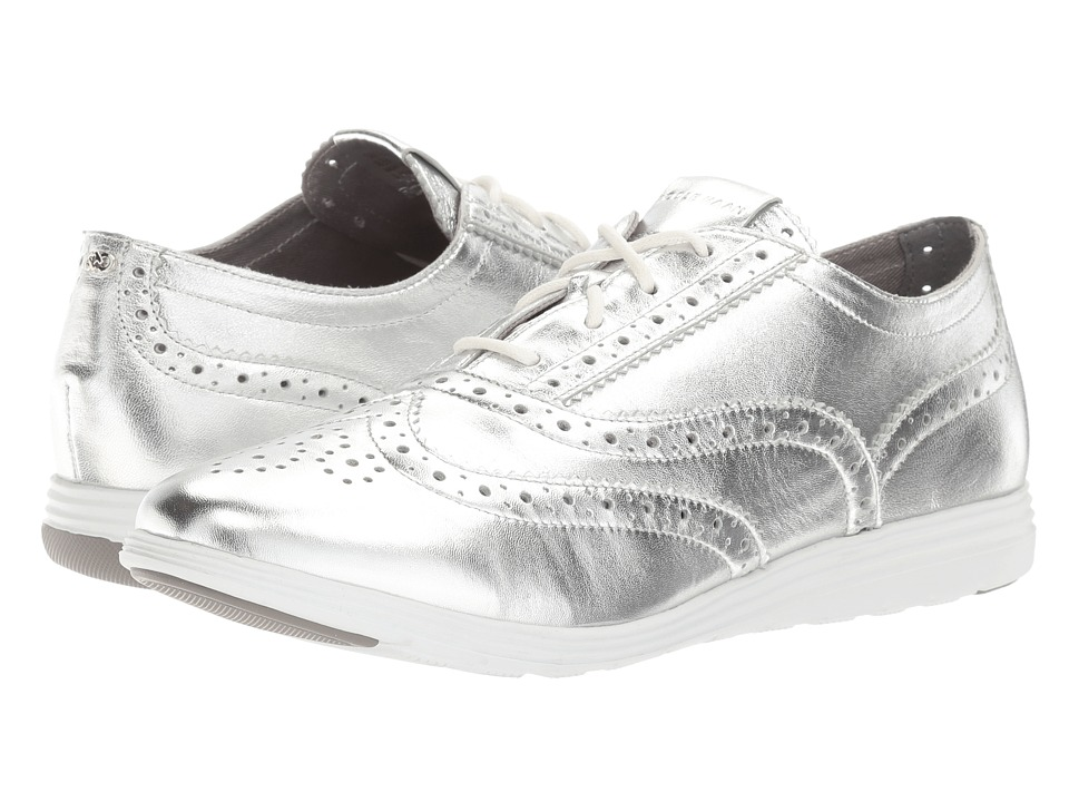 Cole Haan - Grand Tour Oxford (Argento Metallic Silver) Women's Lace up casual Shoes