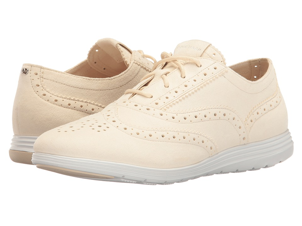 Cole Haan - Grand Tour Oxford (Sandshell Suede/Optic White) Women's Lace up casual Shoes