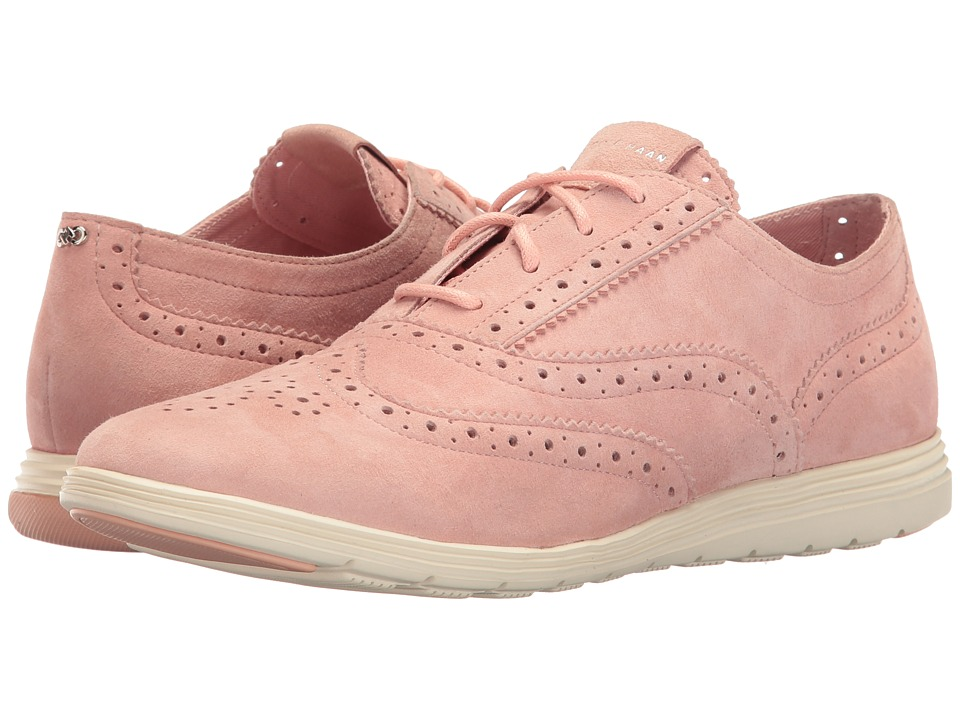 Cole Haan - Grand Tour Oxford (Silver Pink Suede/Ivory) Women's Lace up casual Shoes