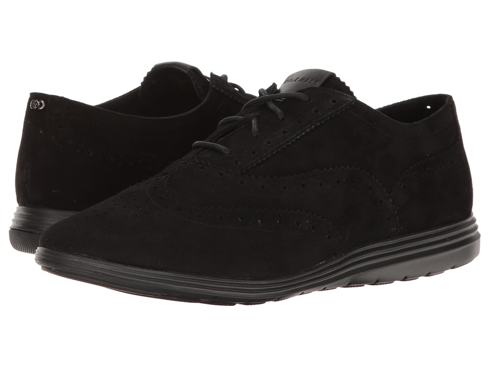 Cole Haan - Grand Tour Oxford (Black Suede/Black) Women's Lace up casual Shoes