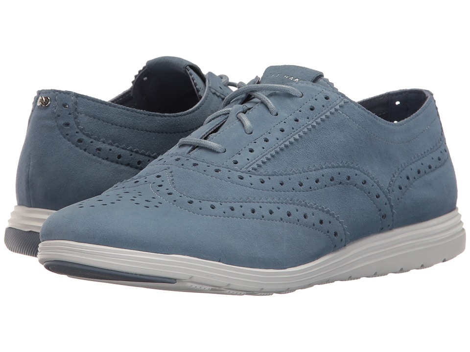 Cole Haan - Grand Tour Oxford (Cornwall Blue Suede/Optic White) Women's Lace up casual Shoes