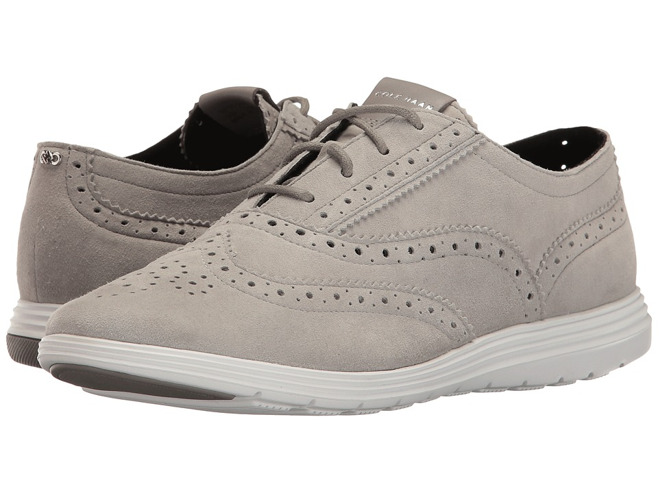 Cole Haan - Grand Tour Oxford (Ironstone Suede/Optic White) Women's Lace up casual Shoes