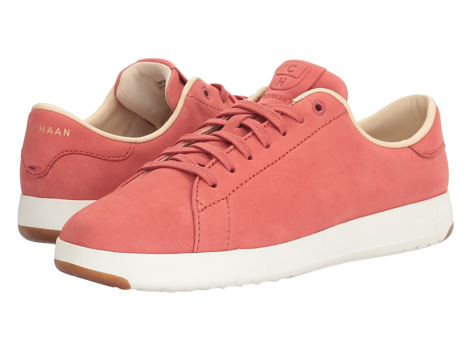 Cole Haan - Grandpro Tennis (New Mineral Red Nubuck/Pink Blue Madras Lining) Women's Lace up casual Shoes