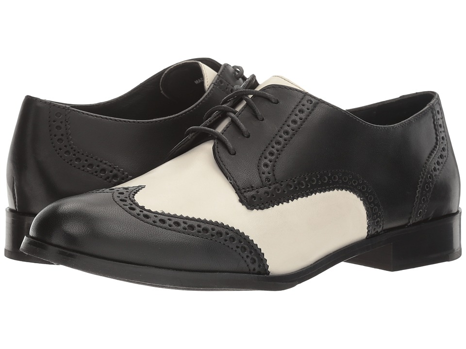 Cole Haan - Jagger Wing Oxford (Black Leather/Ivory Leather) Women's Shoes