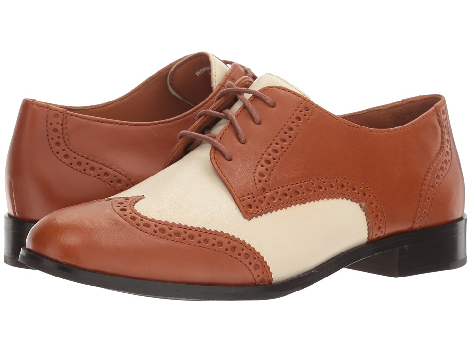 Cole Haan - Jagger Wing Oxford (British Tan Leather/Ivory Leather) Women's Shoes