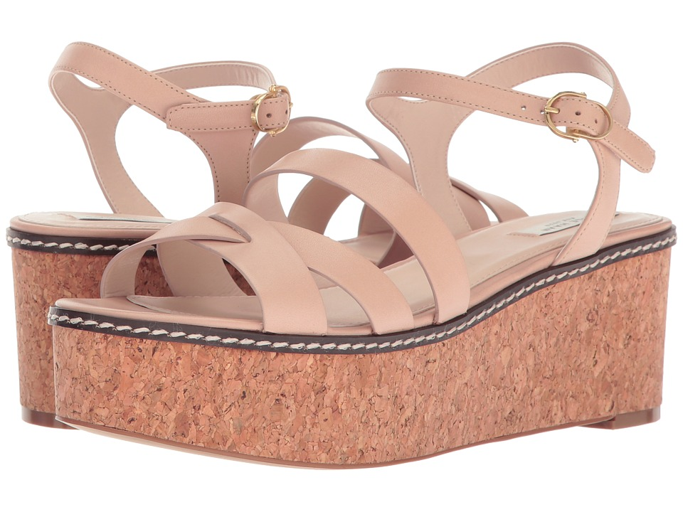 Cole Haan - Jianna Wedge (Nude Leather/Cork) Women's Shoes