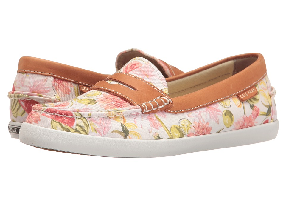 Cole Haan - Pinch Weekender (Floral Print/British Tan Leather) Women's Slip on Shoes