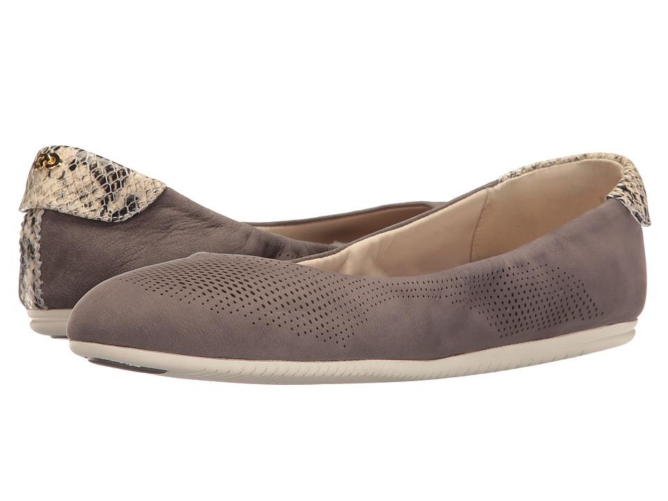 Cole Haan - Studiogrand Ballet (Stormcloud Nubuck/Roccia Snake Print/Ivory) Women's Ballet Shoes