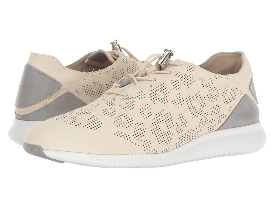Cole Haan - Studiogrand PG TRN (Sandshell Perf Ocelot Nubuck/Sleet Leather/Optic White) Women's Shoes