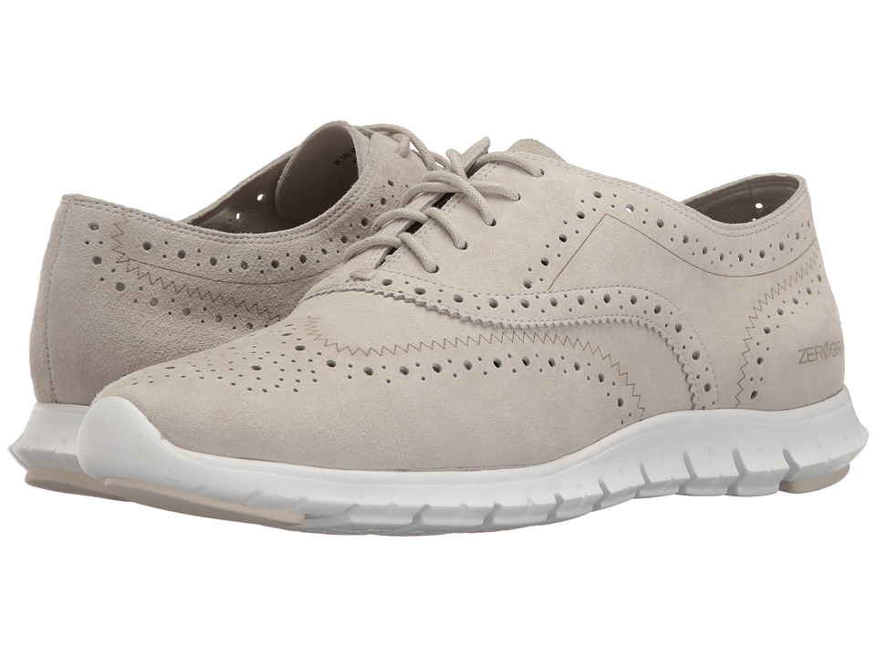 Cole Haan - Zerogrand Wing Oxford Open Hole (Sandshell/White) Women's Lace up casual Shoes