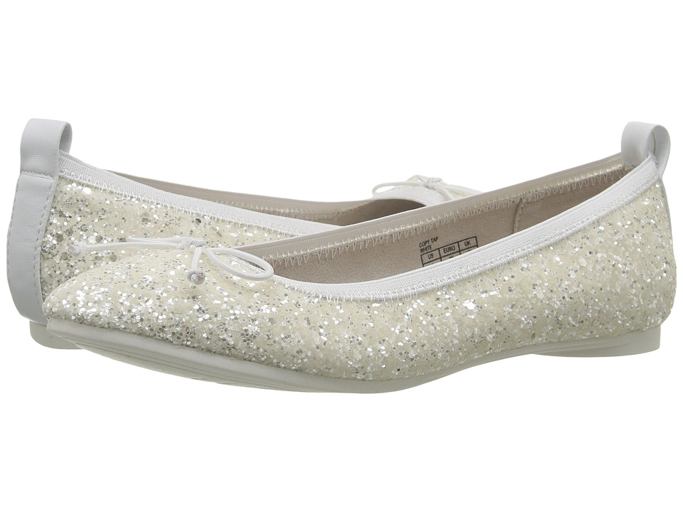 Kenneth Cole Reaction Kids - Copy Tap (Little Kid/Big Kid) (White Glitter) Girls Shoes