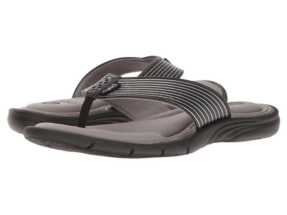 Ryka - Refresh (Black/Frost Grey/Chrome Silver) Women's Sandals