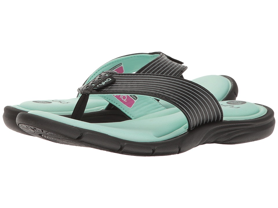 Ryka - Refresh (Black/Yucca Mint/Metallic Steel Grey) Women's Sandals