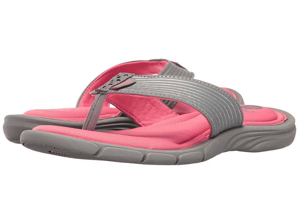 Ryka Refresh (Frost Grey/Calypso Coral/Chrome Silver) Women