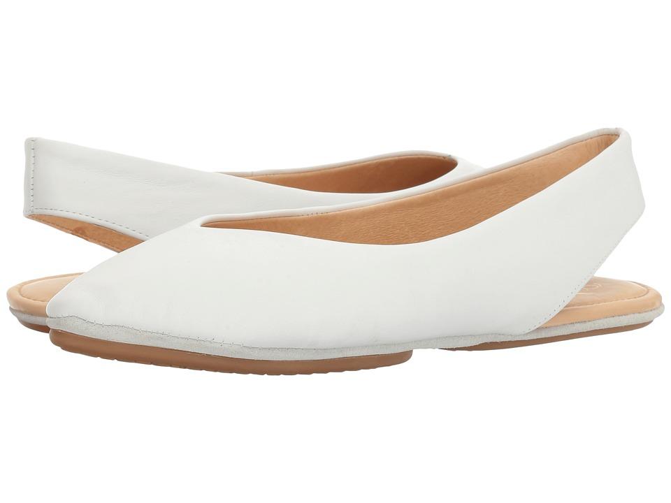 Yosi Samra - Sling-Back Flat (White) Women's Flat Shoes