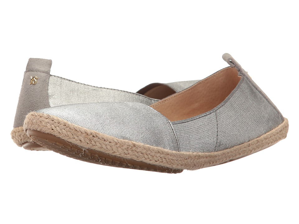 Yosi Samra - Liv Espadrille (Silver) Women's Flat Shoes