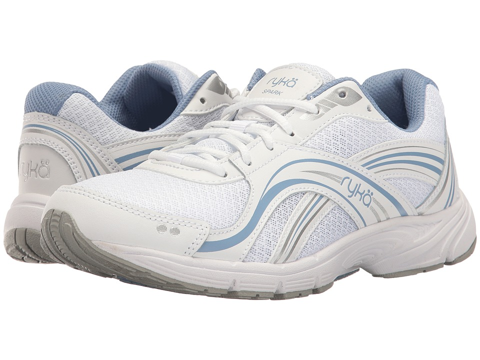 Ryka Spark SMW (White/Chrome Silver/Metallic Lake Blue) Women