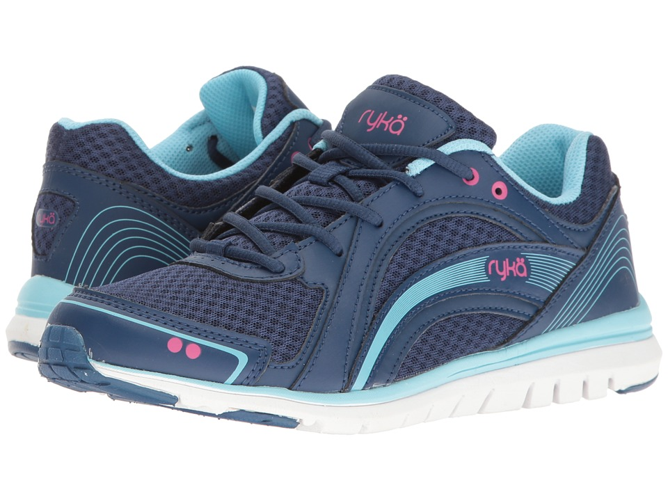 Ryka - Aries (Jet Ink Blue/Zuma Pink/Petit) Women's Shoes