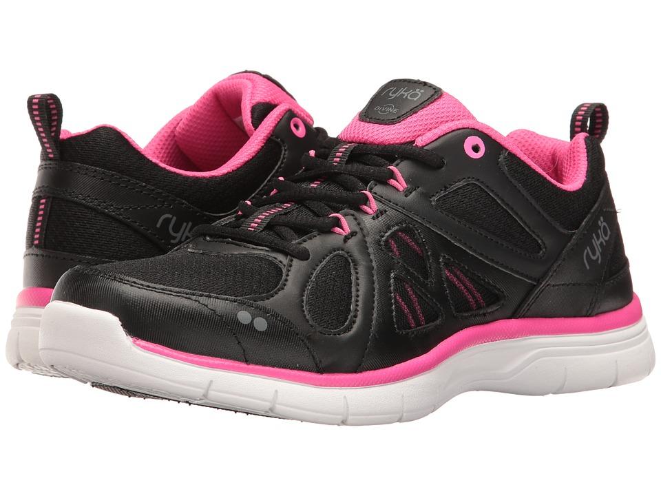 Ryka Divine SMT Black Athena Pink Frost Grey Womens Shoes