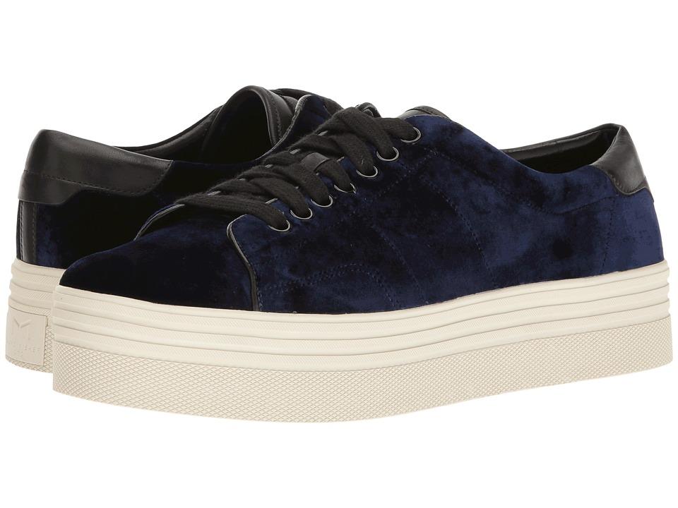 Marc Fisher LTD - Emmy (Blue Smart Velvet) Women's Lace up casual Shoes