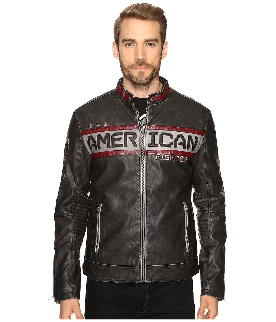 American Fighter - Escape Moto Jacket (Charcoal) Men's Coat