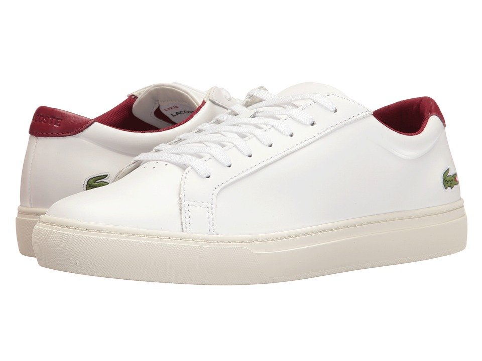 Lacoste - L.12.12 117 2 (White/Dark Red) Men's Shoes