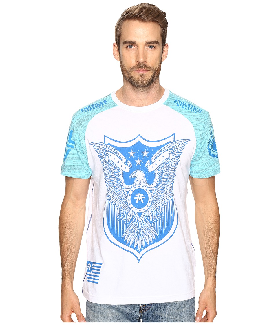 American Fighter - Edison Short Sleeve Tee (White) Men's Clothing
