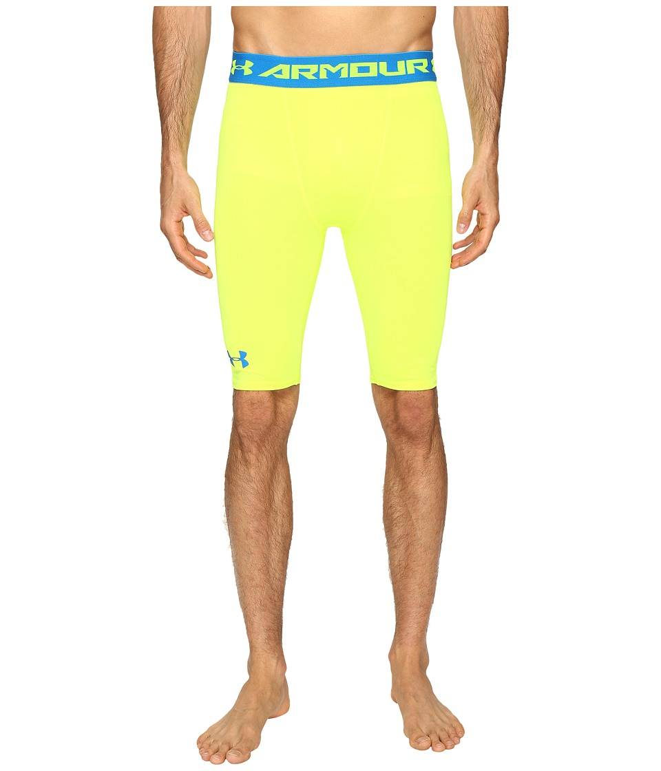 Under Armour - UA HeatGear Armour Long Compression Shorts (High-Vis Yellow) Men's Shorts