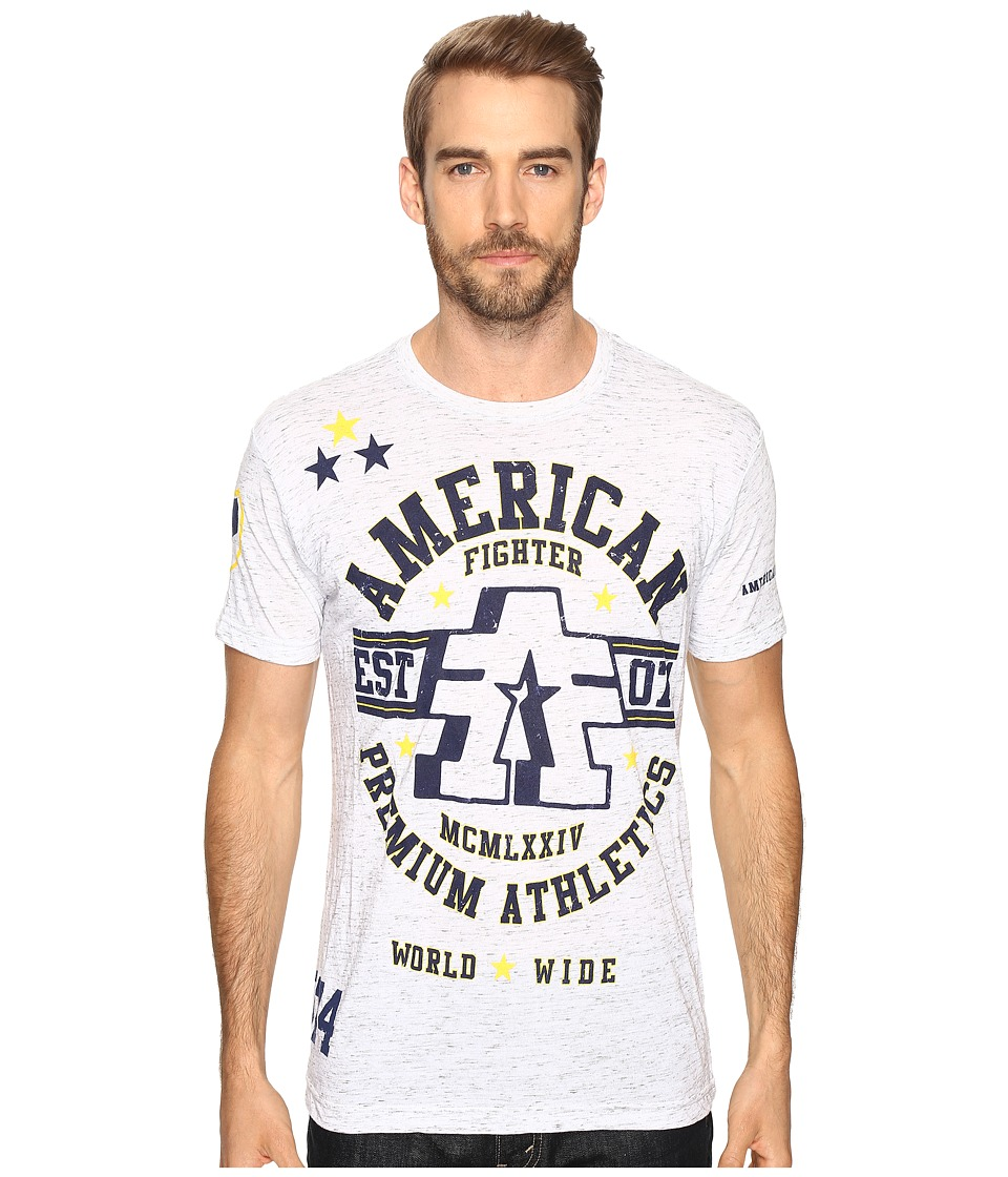 American Fighter - Buena Vista Short Sleeve Tee (White/Grey) Men's T Shirt