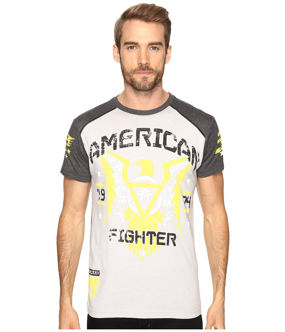 American Fighter - Chicago Short Sleeve Tee (Heather Grey/Charcoal) Men's T Shirt