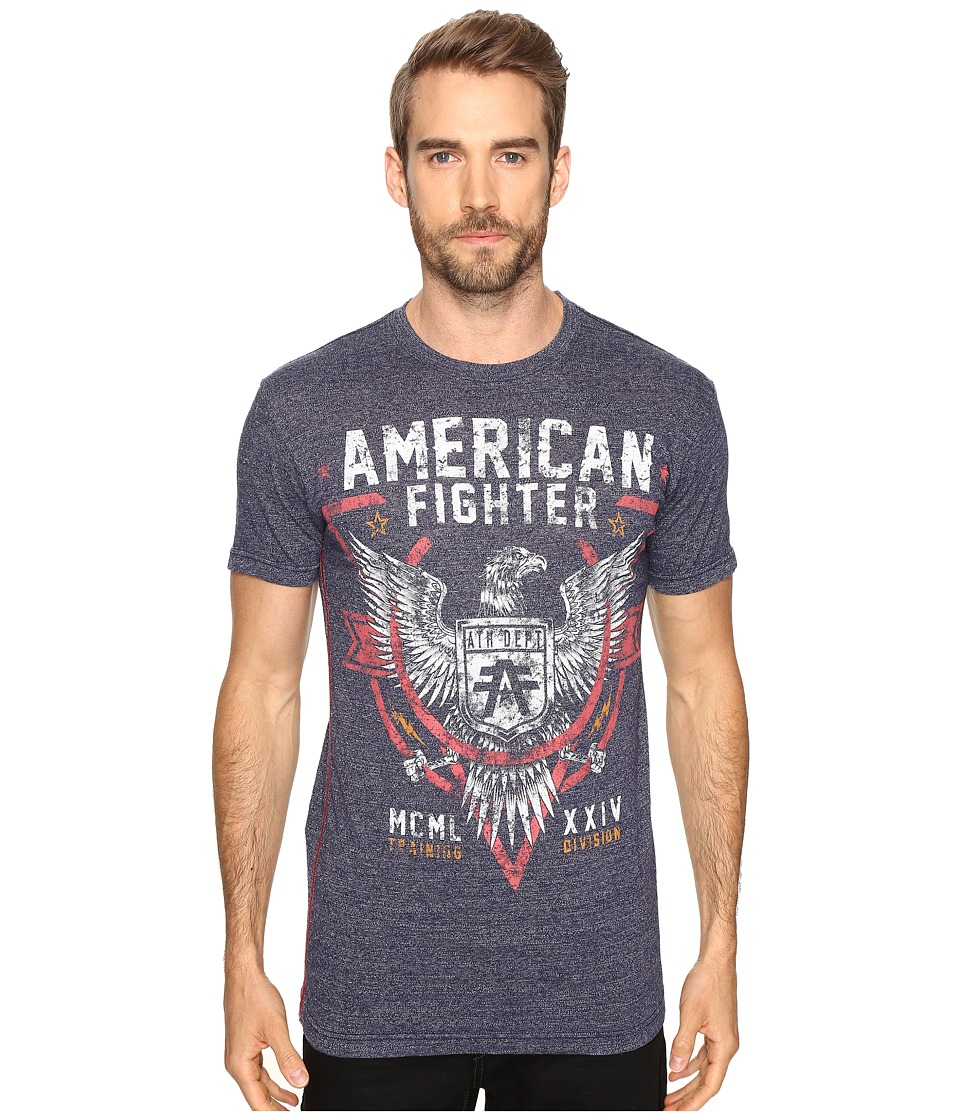 American Fighter - Cortland Short Sleeve Tee (Dress Blue Lava Wash) Men's T Shirt