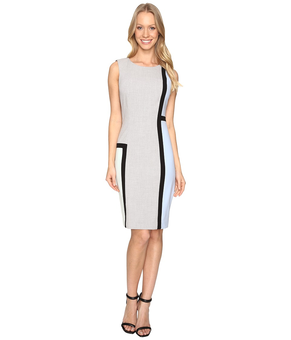 Calvin Klein - Color Block Sheath CD6X1V8P (Black/White/Serene/Mint) Women's Dress