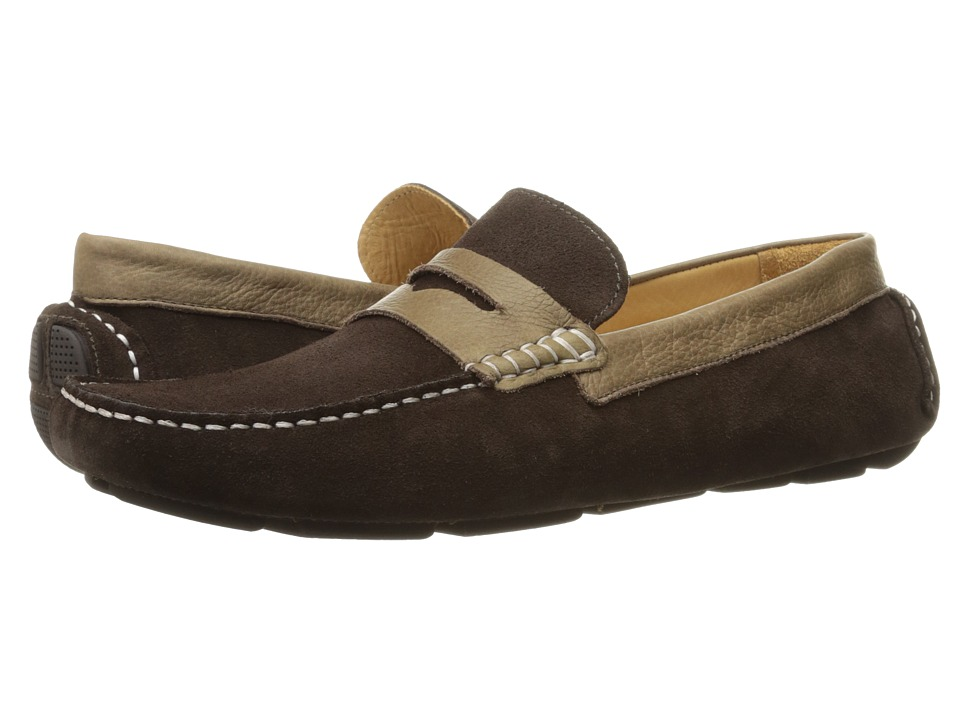 RUSH by Gordon Rush - Davison (Dark Brown Suede/Dark Brown) Men's Slip on Shoes